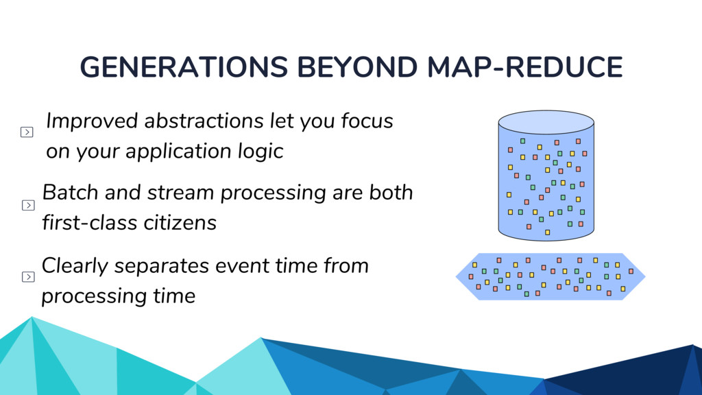 GENERATIONS BEYOND MAP-REDUCE Clearly separates...