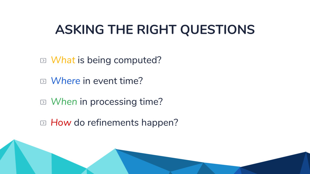 ASKING THE RIGHT QUESTIONS When in processing t...