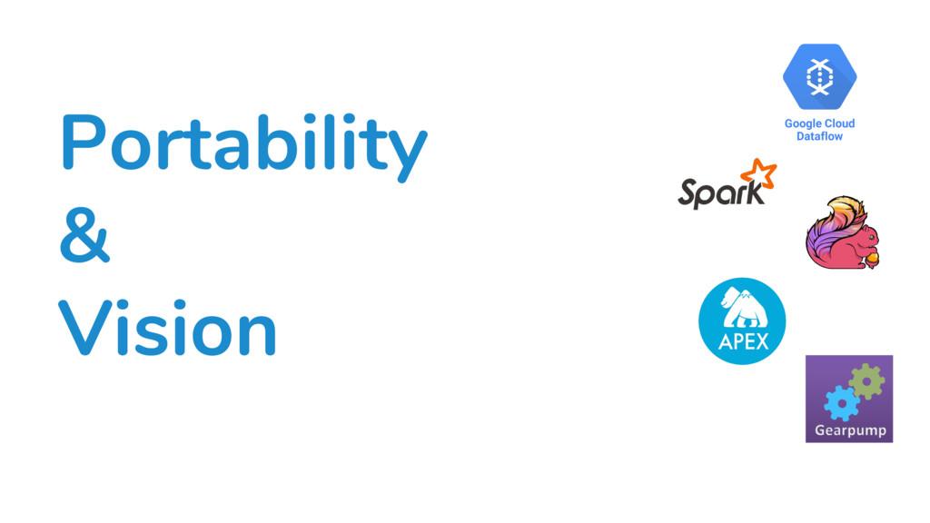 Portability & Vision Google Cloud Dataflow