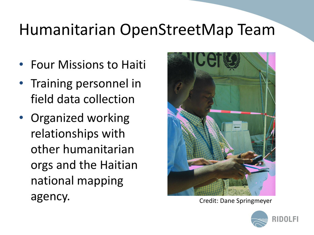 Humanitarian OpenStreetMap Team • Four Missions...