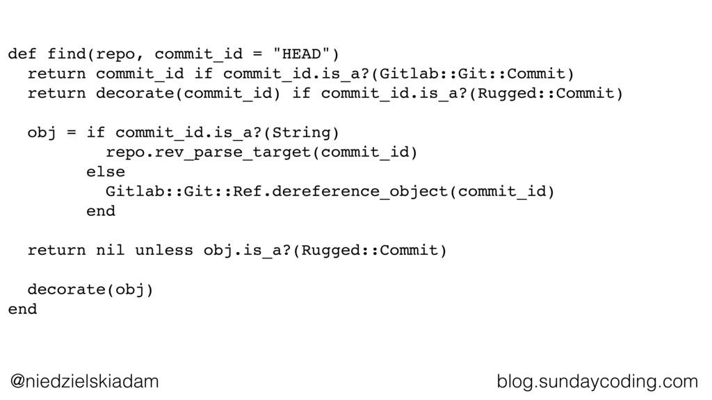 @niedzielskiadam blog.sundaycoding.com def find...
