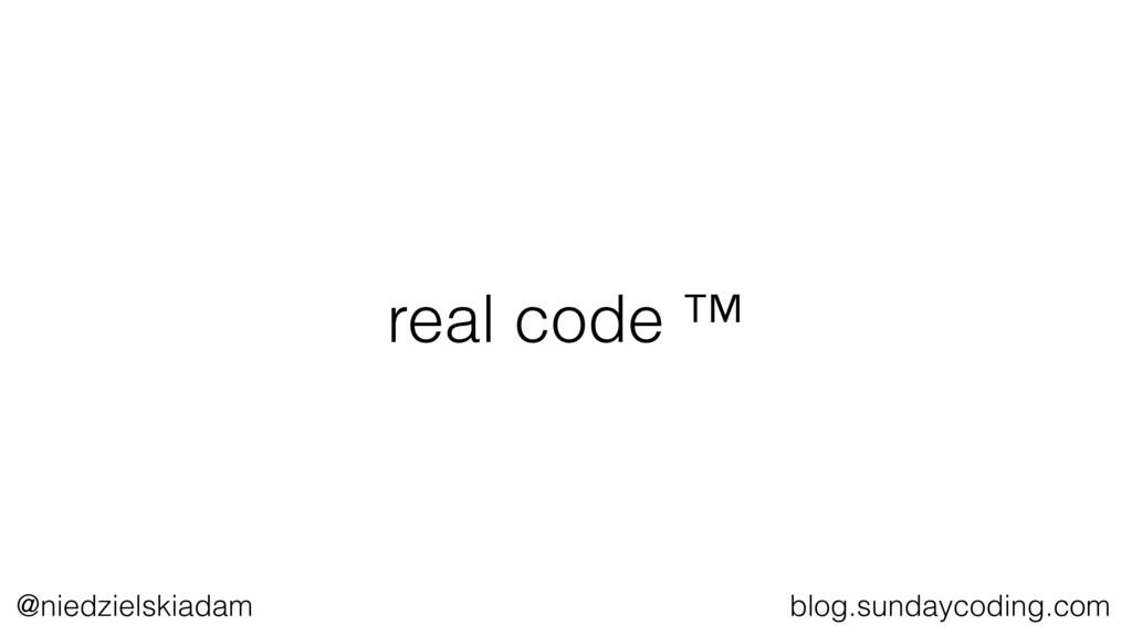 @niedzielskiadam blog.sundaycoding.com real cod...