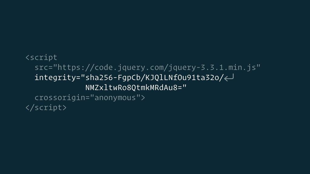 """<script src=""""https://code.jquery.com/jquery-3.3..."""