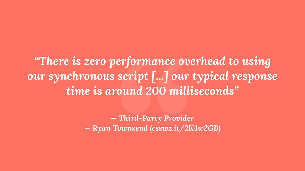 """ ""There is zero performance overhead to using ..."