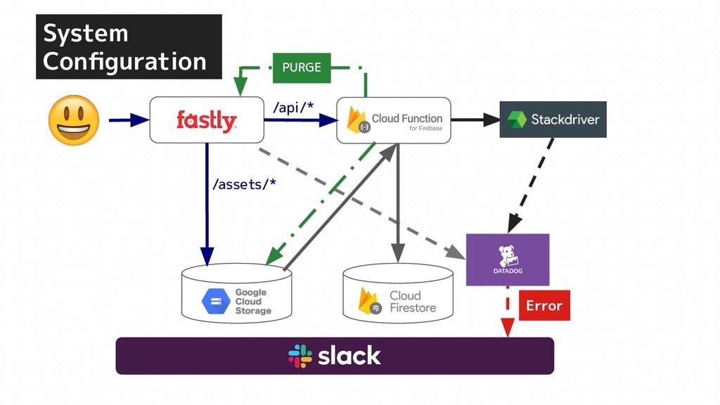 System Configuration Error GCS /api/* /assets/* ...