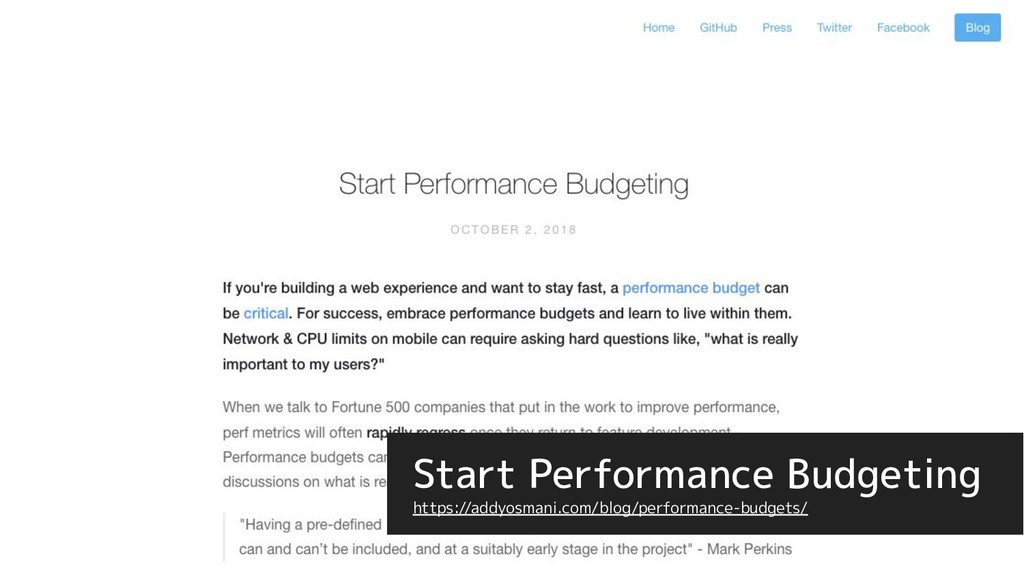 Start Performance Budgeting https://addyosmani....