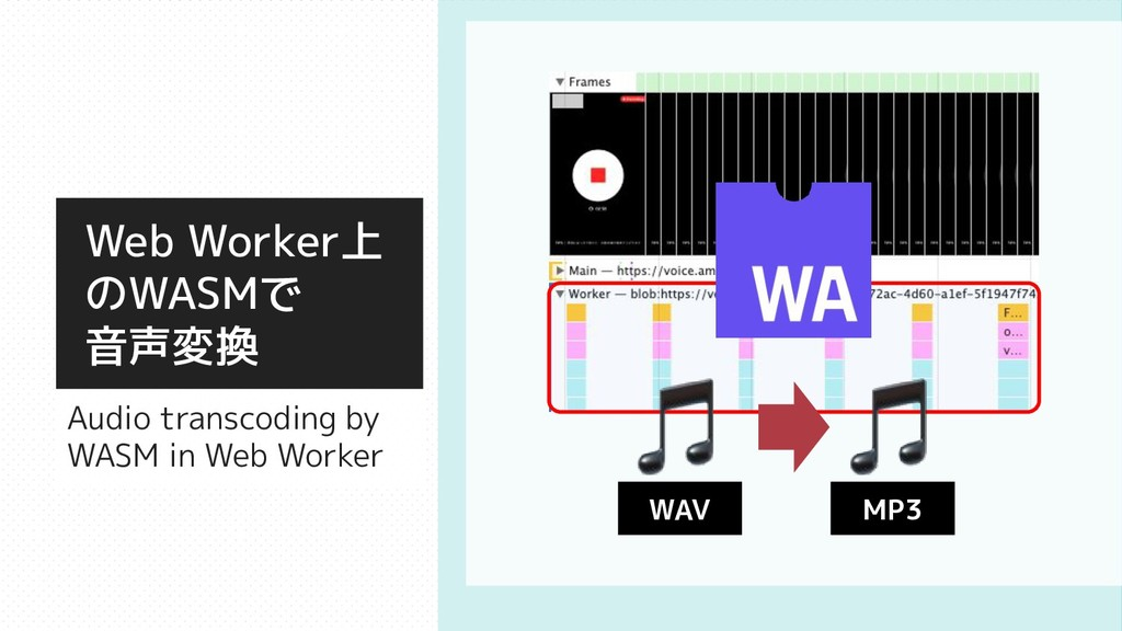 Web Worker上 のWASMで 音声変換 Audio transcoding by WA...