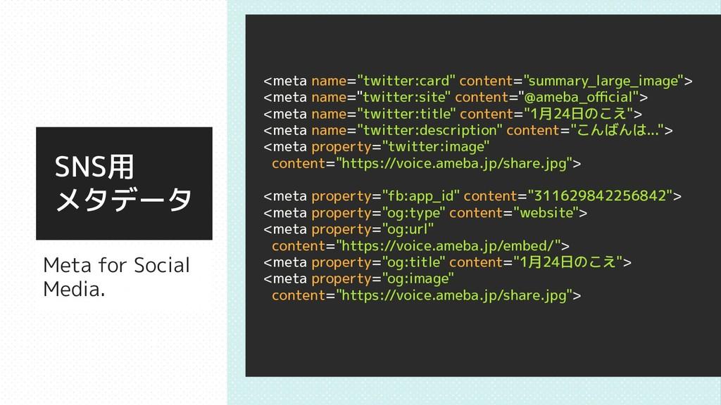 """Meta for Social Media. <meta name=""""twitter:card..."""