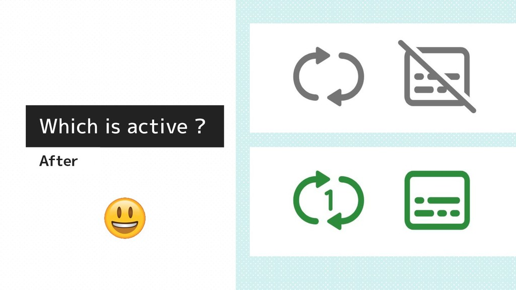 Which is active ? After