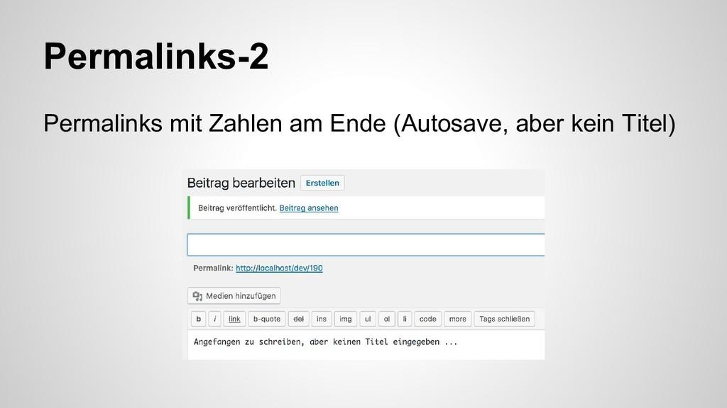 Permalinks-2 Permalinks mit Zahlen am Ende (Aut...