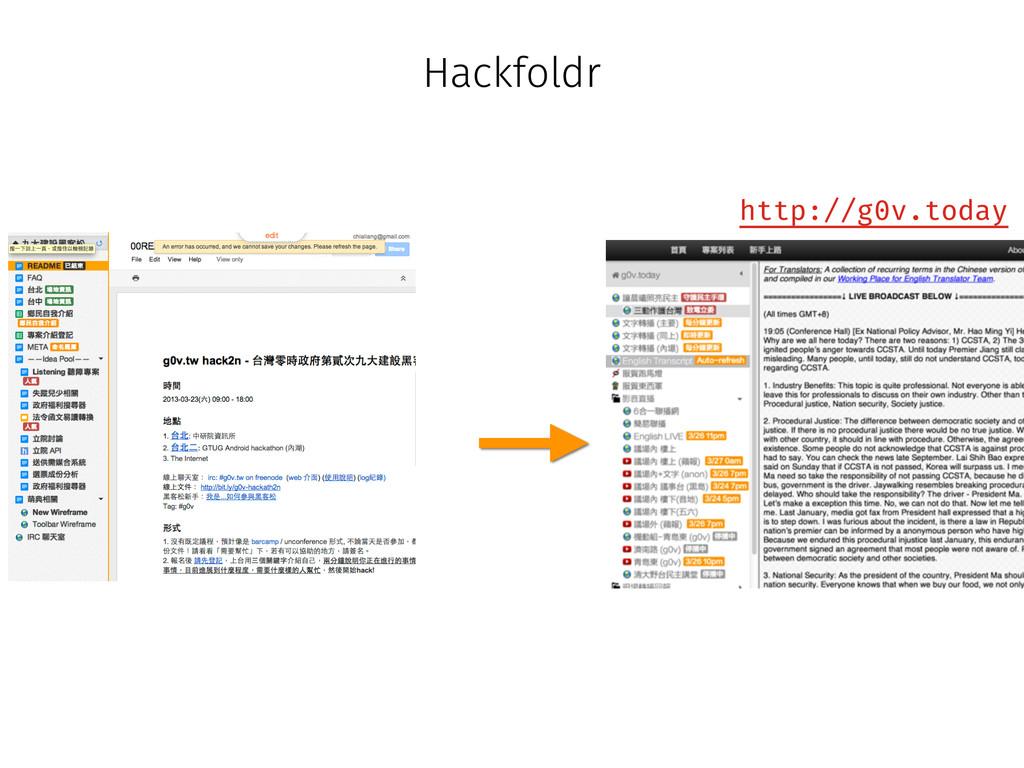 Hackfoldr http://g0v.today