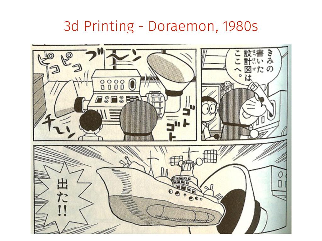 3d Printing - Doraemon, 1980s