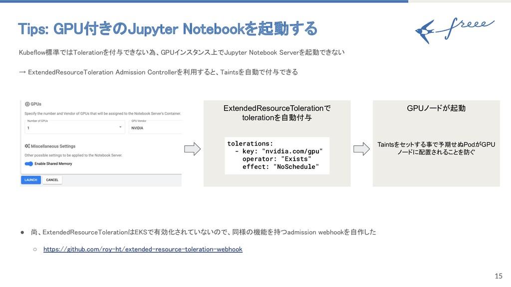 15 Tips: GPU付きのJupyter Notebookを起動する Kubeflow標...