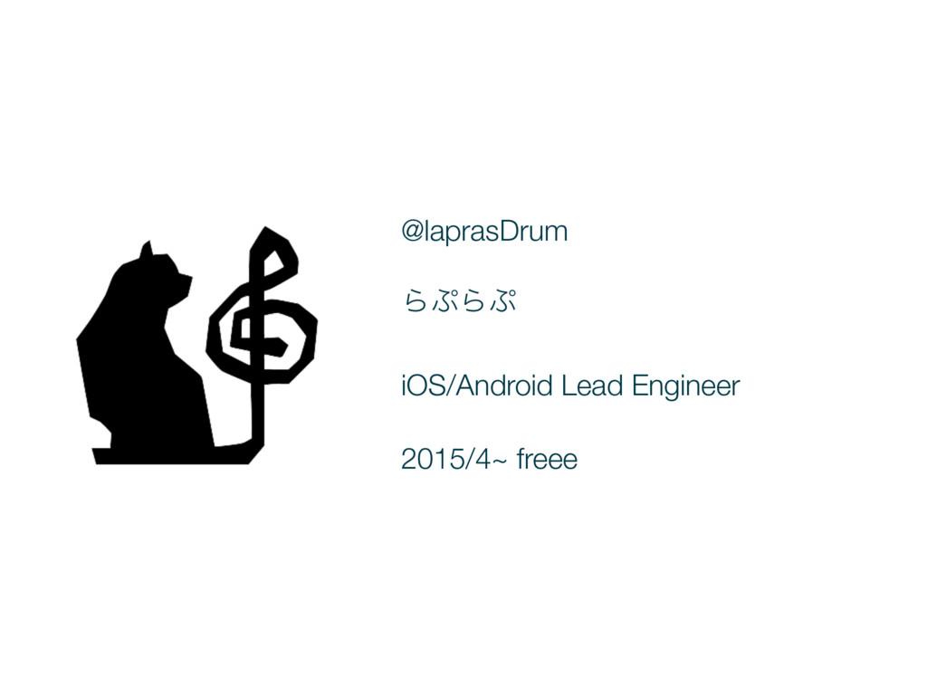 @laprasDrum ΒΒ iOS/Android Lead Engineer 2015...