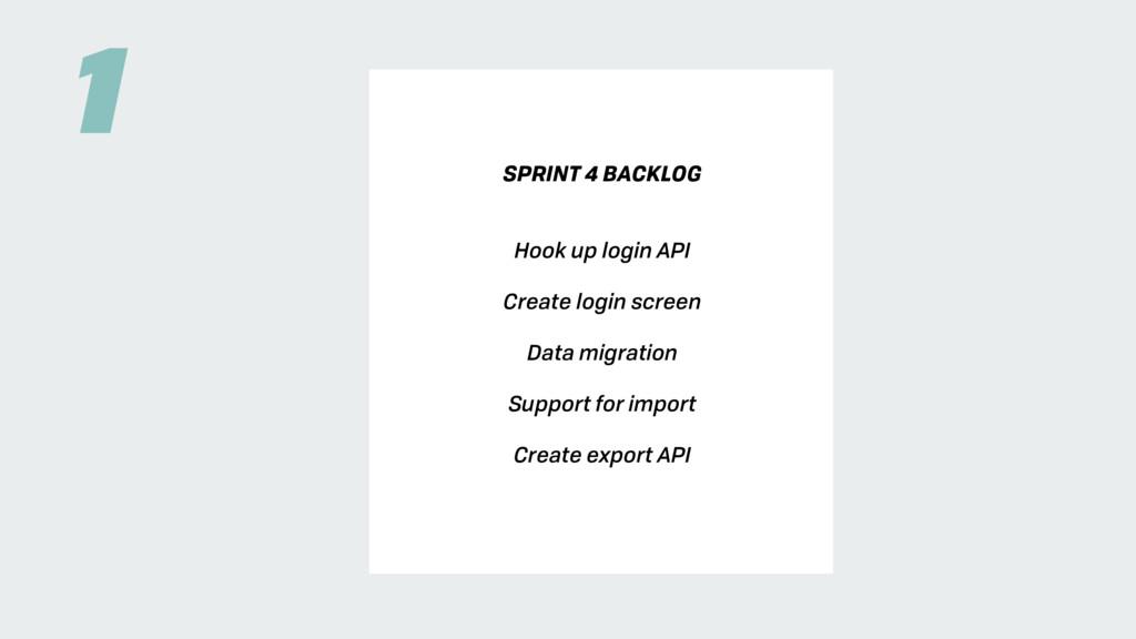 SPRINT 4 BACKLOG Hook up login API Create login...