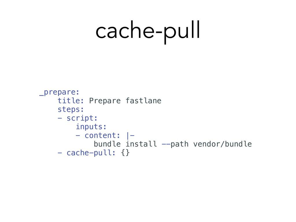 cache-pull _prepare: title: Prepare fastlane st...