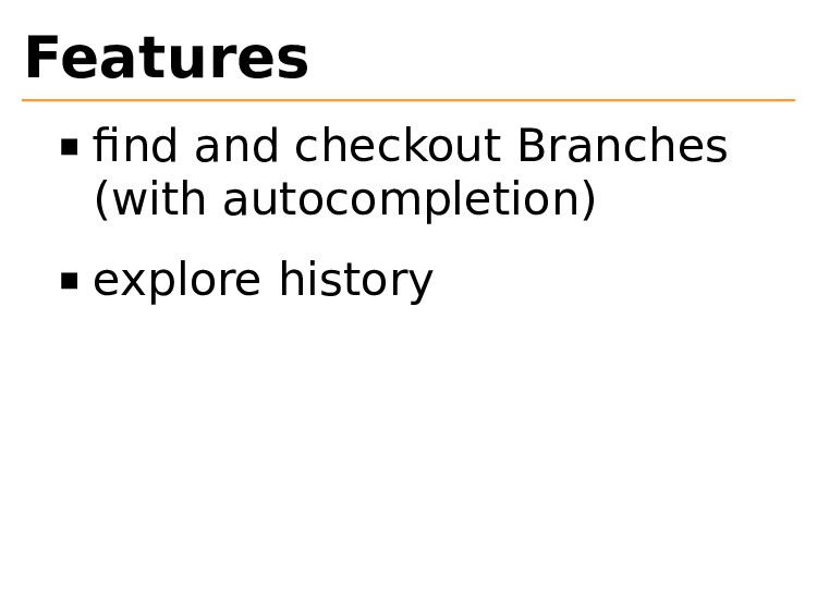 Features find and checkout Branches (with autoco...