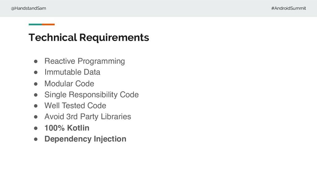 @HandstandSam #AndroidSummit Technical Requirem...