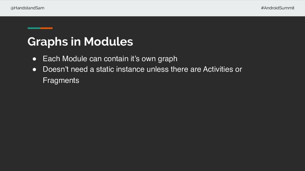 @HandstandSam #AndroidSummit ! Each Module can ...