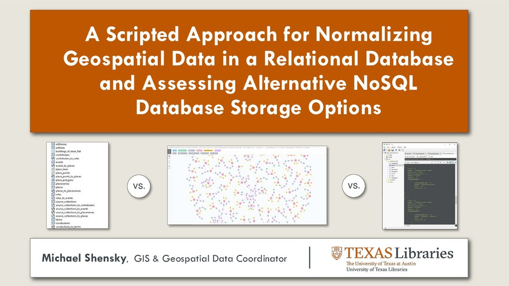 A Scripted Approach for Normalizing Geospatial ...