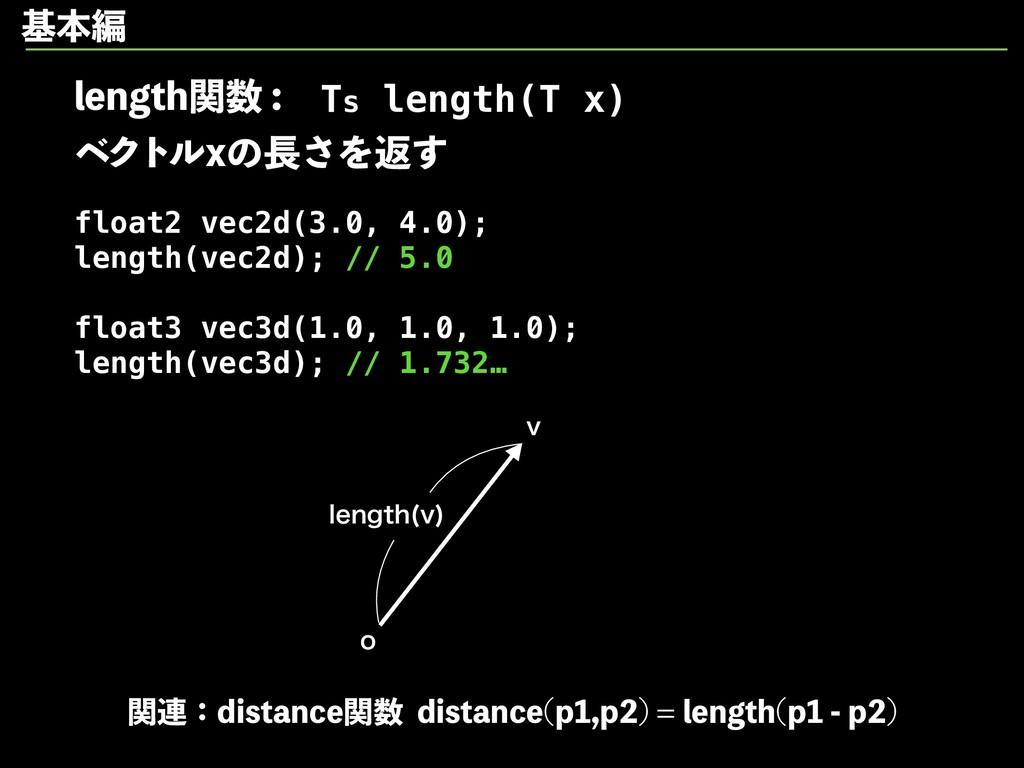 MFOHUIؔ ϕΫτϧYͷ͞Λฦ͢ float2 vec2d(3.0, 4.0...