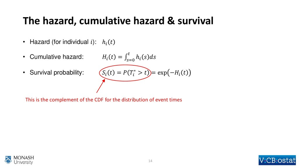 The hazard, cumulative hazard & survival • Haza...