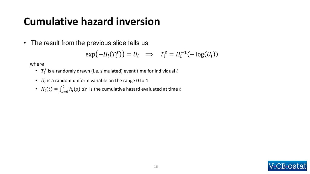 Cumulative hazard inversion • The result from t...