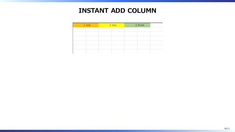 INSTANT ADD COLUMN 33/77