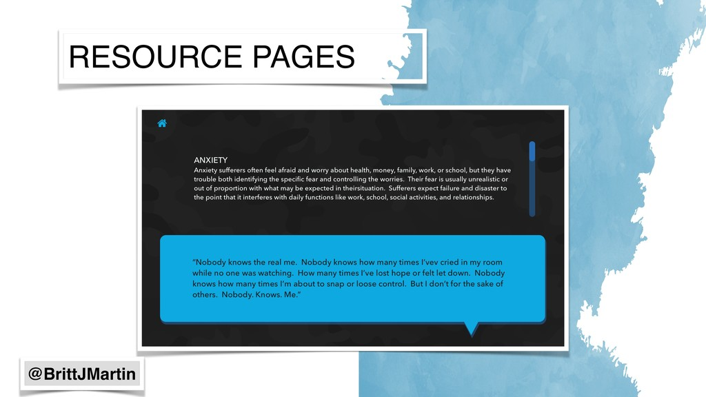 RESOURCE PAGES @BrittJMartin