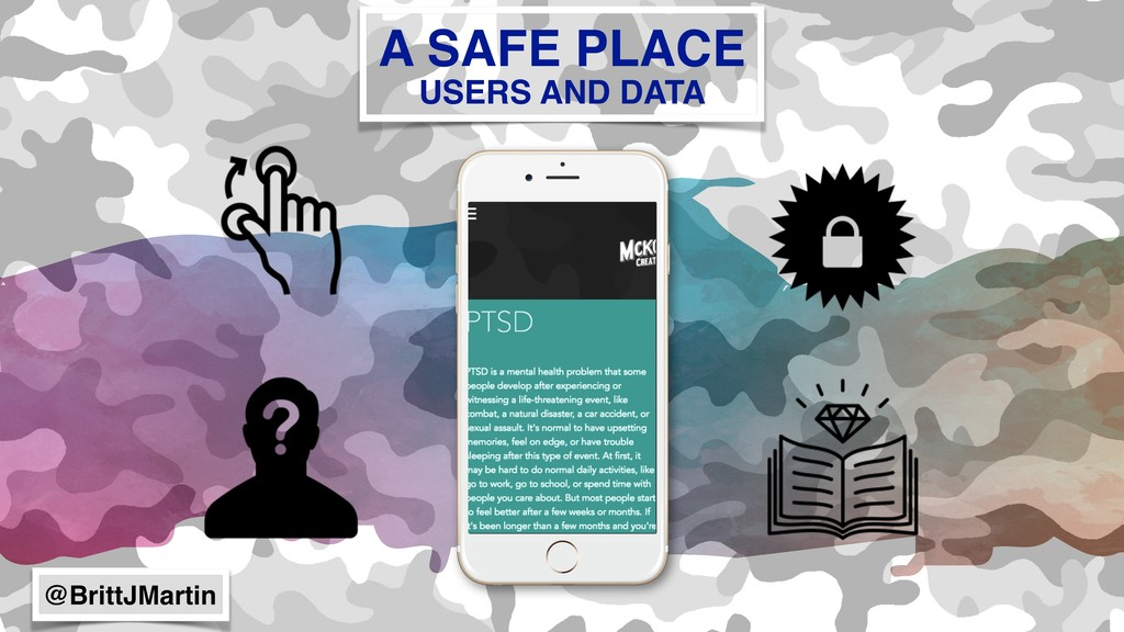 A SAFE PLACE USERS AND DATA @BrittJMartin