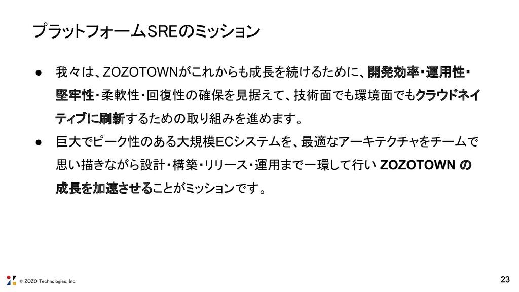 © ZOZO Technologies, Inc. ● 我々は、ZOZOTOWNがこれからも成...