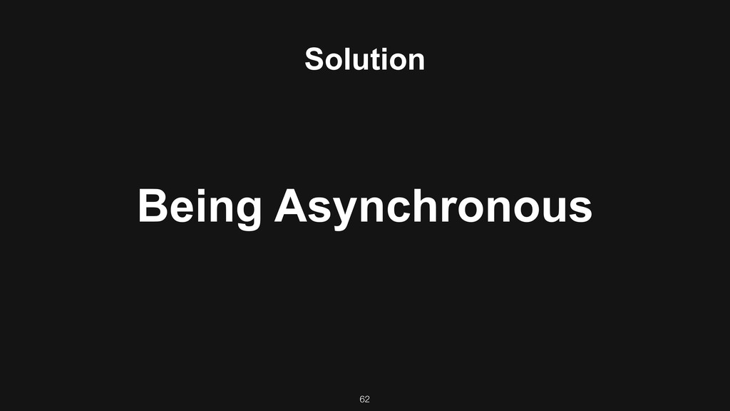 Solution Being Asynchronous 62