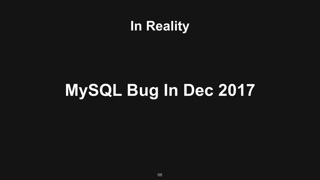 In Reality MySQL Bug In Dec 2017 68