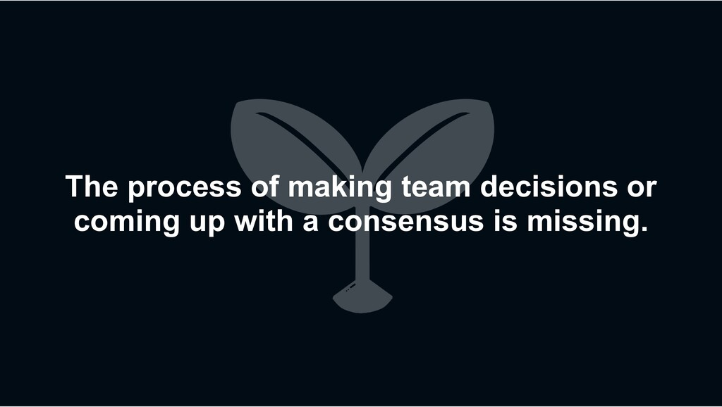 The process of making team decisions or coming ...