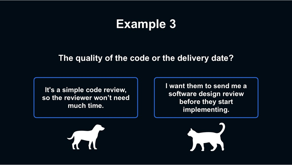 Example 3 It's a simple code review, so the rev...