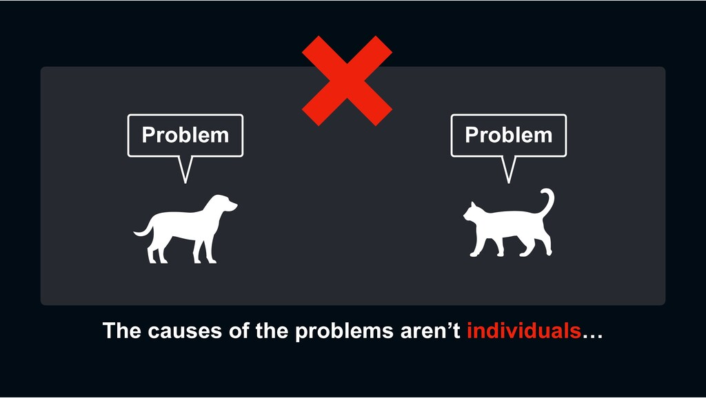 The causes of the problems aren't individuals… ...
