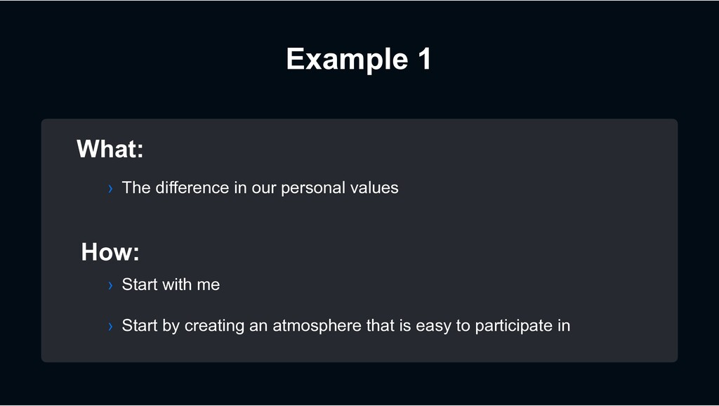 Example 1 What: How: › Start by creating an atm...