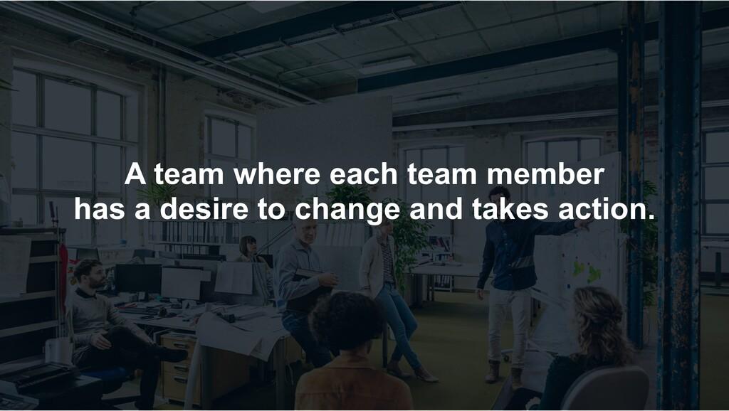 A team where each team member has a desire to c...
