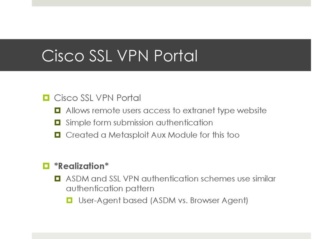 Cisco SSL VPN Portal ¤ Cisco SSL VPN Portal ¤...
