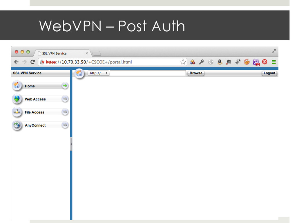 WebVPN – Post Auth