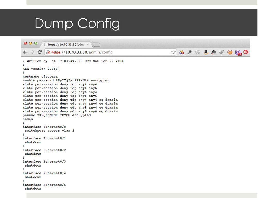 Dump Config