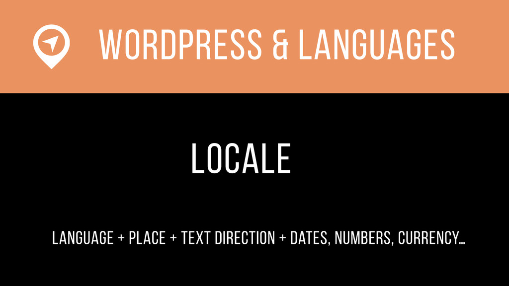 WOrdPress & languages locale language + place +...