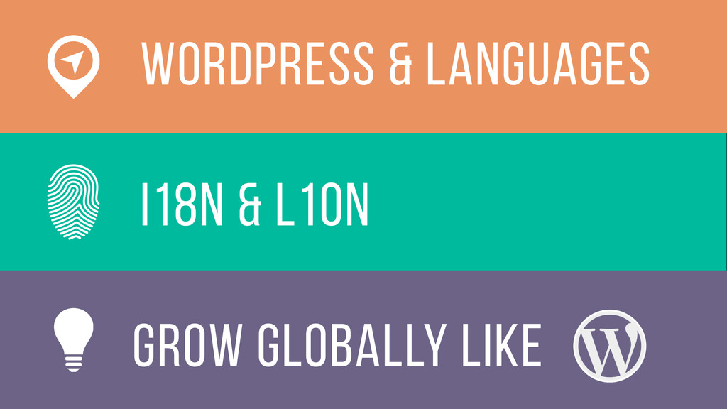 i18n & L10n WOrdPress & languages grow globally...