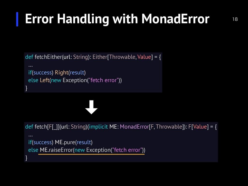 Error Handling with MonadError  def fetch[F[_...