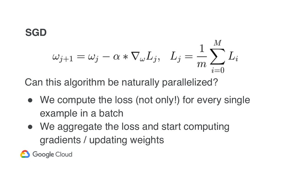 SGD Can this algorithm be naturally parallelize...