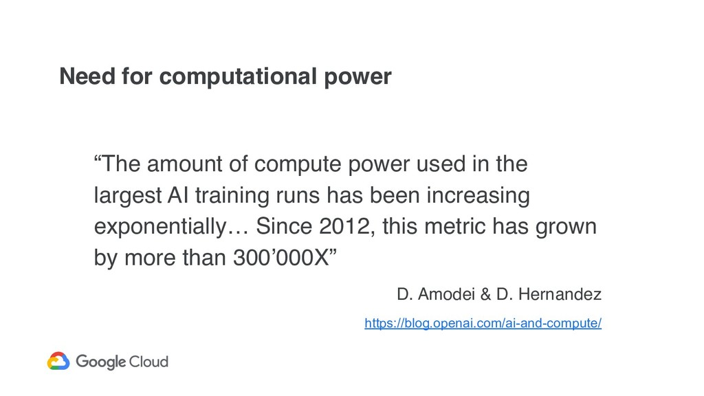 """Need for computational power """"The amount of com..."""