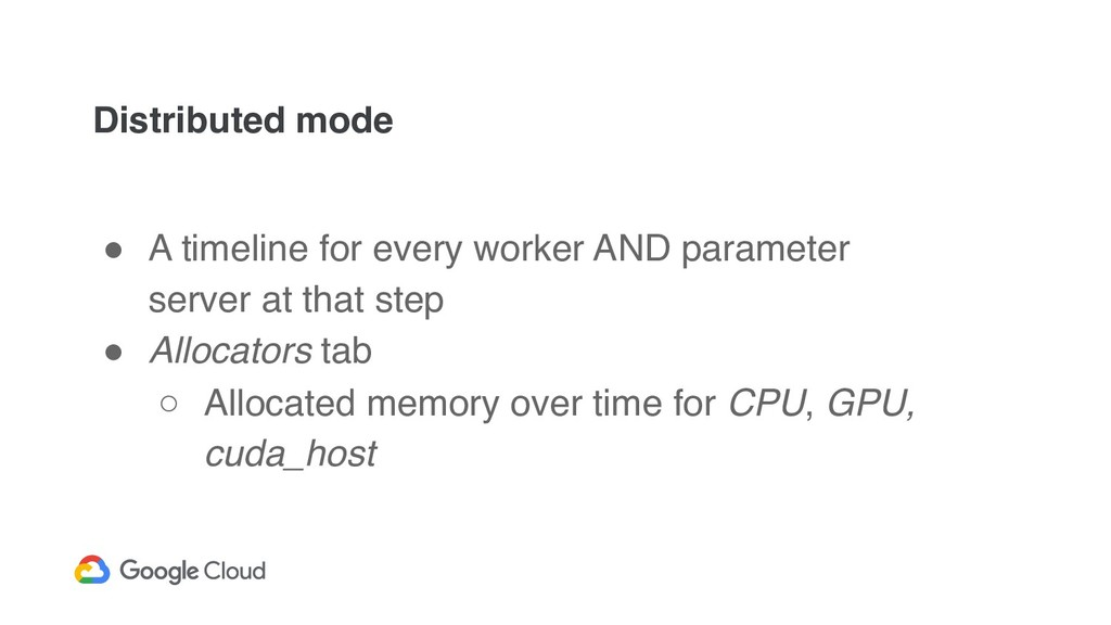 Distributed mode ! A timeline for every worker ...