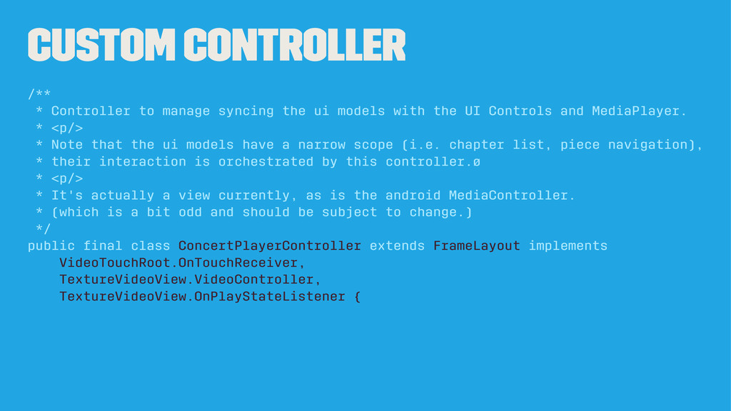 Custom Controller /** * Controller to manage sy...
