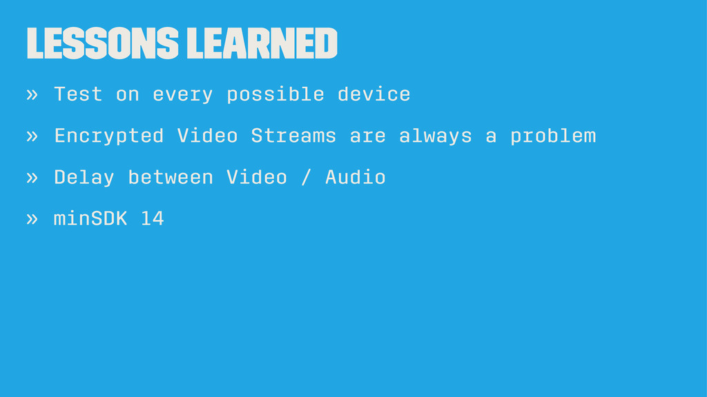 LESSONS LEARNED » Test on every possible device...