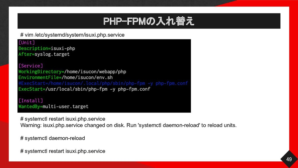 # vim /etc/systemd/system/isuxi.php.service PHP...